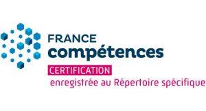 Certification enregistrée au Répertoire Spécifique de France Compétences